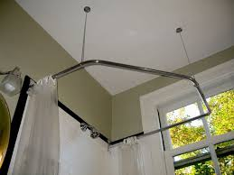 modified from standard two corners by adding a third corner rod supported to the back wall used with two corners with open top shower rings