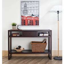 furniture entryway. furniture of america neviah open modern espresso entryway table