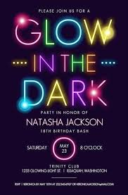 Make Birthday Party Invitations Neon Invitation Card Birthday Invites Stylish Neon Birthday