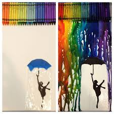 regrets and mistakes, are just memories made  My melted crayon art!