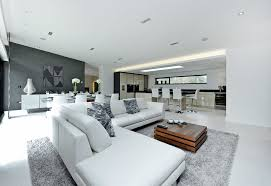 how to place an area rug living room contemporary with family room u shaped sofa