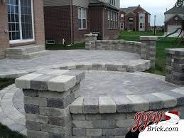 brick paver patio designs two tier brick patio design with brick pillars and seating brick paver brick paver patio