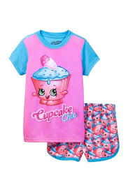 Shopkins Cupcake Chic Jogger Short Pj Set Little Girls Big Girls