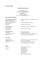 Pdf Resume Templates Job Resume Sample Resume Outline Template