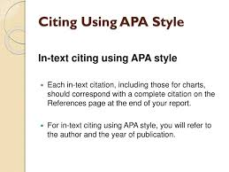 Apa Style Reference Page Ppt Citing Using Apa Style Powerpoint Presentation Id