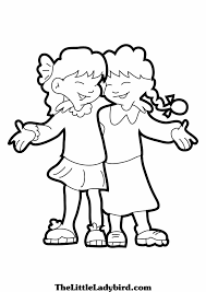 Small Picture Friendship Coloring Pages At Friend esonme