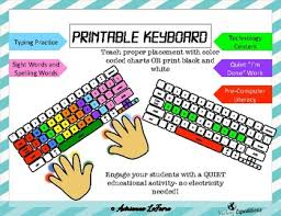 Printable Keyboard Chart Printable Keyboard For Typing Practice