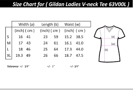 Gildan Softstyle Size Chart Cm Gildan Softstyle 6300l V Neck For Women On Carousell