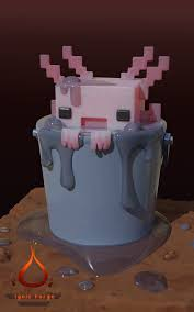Axolotl from the Minecraft cave update ...
