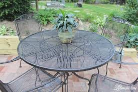 spray paint patio furniture our vintage wrought iron patio set stunning spray paint patio chairs