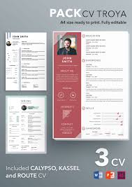 Modern Looking Font For Resume Pack Cv Troya