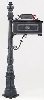 aluminum mailbox post. Cast Aluminum Mailbox And Post