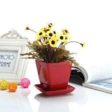 office flower pots. 2pcs Small Green White Red Orange Exquisite Plastic Flower Planter Plant Pot With Office Pots -