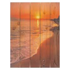 gizaun art sunset beach inside outside full color cedar wall art on outdoor beachy wall art with outdoor wall art hayneedle