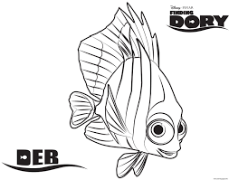 Wonderful Dory Coloringges Baby From Finding How To Draw Fish