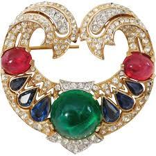 Trifari Alfred Philippe Designs Magnificent Jewels Of India Crown Trifari Brooch Designer