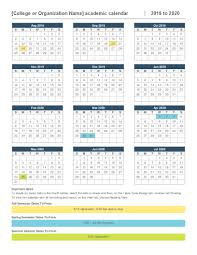 Academic Calendar 2020 17 Template 2020 Year At A Glance Calendar Calendar Template Printable