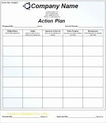 Business Action Plan Example Awesome Exclusive Marketing Action Plan ...