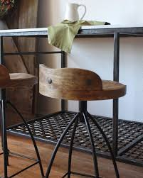 Image of: Industrial Stools With Backs