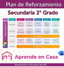 Maybe you would like to learn more about one of these? Plan De Reforzamiento Para Secundaria Generales Tecnicas Y Telesecundaria 1er Grado Semana 18 2021