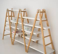 Wooden Ladder Display Stand three wooden ladders into bookcase deco Pinterest Wooden 2