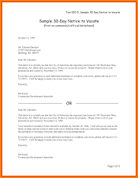 notice to vacate letter template 7 30 day notice to vacate letter template
