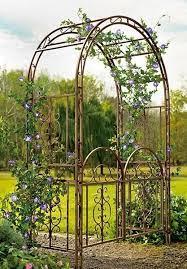 garden arbor gate dark bronze iron arch