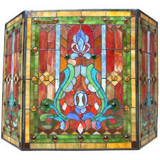 chloe victorian stained glass fireplace screen 209 liked on polyvore featuring home