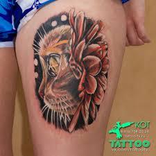 татуировка кошки пантеры
