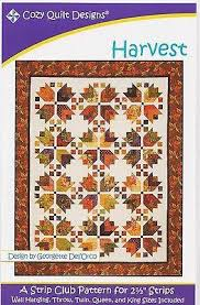 Cozy Quilt Designs HARVEST Pattern for 2 1/2 inch Strips – Jordan ... & Cozy Quilt Designs HARVEST Pattern for 2 1/2 inch Strips – Jordan Fabrics Adamdwight.com