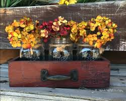 Fall Home Decor Ideas Wooden Distressed Drawers With