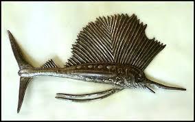 metal fish wall art sealife haitian