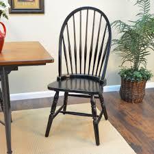 black wood dining chair. Carolina Cottage Black Wood Windsor Dining Chair O