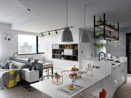 Apartment Size Kitchen Tables Kitchen White City View Kitchen Table Grey Sofa Gray Hanging