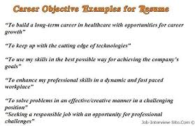 Examples Of A Resume Objective Objective Resume Examples Best