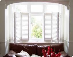oak wooden window shutters interior