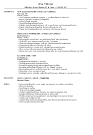Machine Operator Resume Sample Machine Operators Resume Samples Velvet Jobs 5