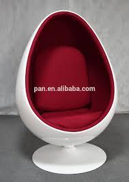 high quality modern replica fiberglass egg pod chair with speakers