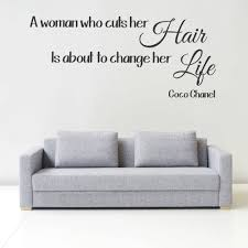 stand principle quote wall decal. Coco Chanel Hair Quote Wall Art Picture Sticker Salon Straightners Pertaining To Most Popular Stand Principle Decal