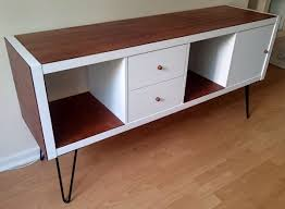Living Room Sideboards And Cabinets Ikea Kallax Sideboard Hack Cabinets 50s Furniture And Hacks
