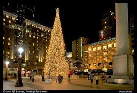 Christmas Tree In Front Of Pier 39 In San Francisco CA Stock Christmas Tree In San Francisco