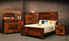 Mirror Ceiling Bedroom Bedroom Full Size Brown Modern Stained Solid Wood Panel Bed