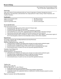 Customer Service Resume Summary Revised Sales And Enticing Picture