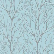 Patterned Wallpaper Mesmerizing I Love Wallpaper Shimmer Tree Wallpaper Teal Silver ILW48
