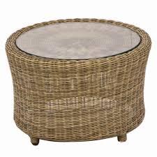 bramblecrest sahara round rattan coffee table