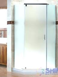 inch shower door frosted glass semi angle shine bathrooms sliding doors cleaning s