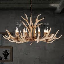 8 elk deer antler chandelier candle style eight cast cascade ceiling lights rustic lighting natural