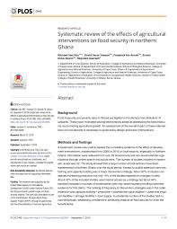 Pdf Systematic Review Of The Effects Of Agricultural Interventions