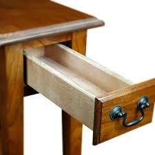 Wooden chair side New Model Walmart Hardwood 10 Inch Chairside End Table In Medium Oak Walmartcom