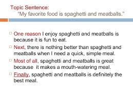 writing lesson presentation my favorite food is spaghetti and meatballs 32